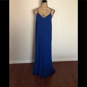 Brand New Express Blue AccordionPleated Maxi sizeS